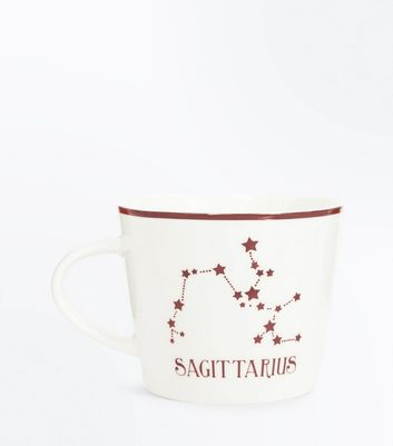 Shell Pink Sagittarius Zodiac Mug New Look