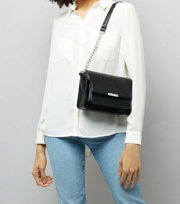 Black Chain Shoulder Bag New Look