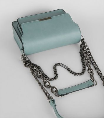 Blue Chain Shoulder Bag New Look