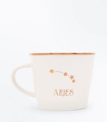 Shell Pink Aries Zodiac Mug New Look