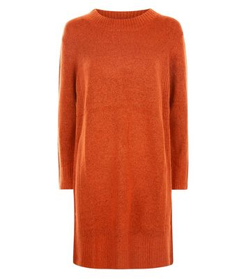 JDY Red Long Sleeve Knitted Dress New Look