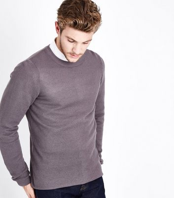 Lilac Crew Neck Jumper New Look