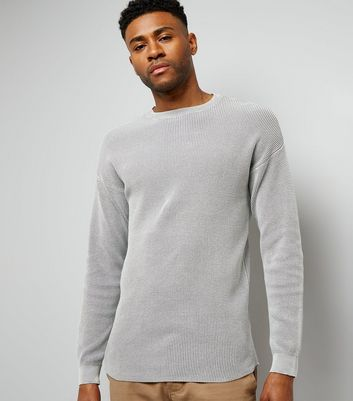 Grey Crew Neck Textured Jumper New Look