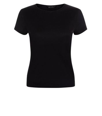 Black Fitted T-Shirt New Look