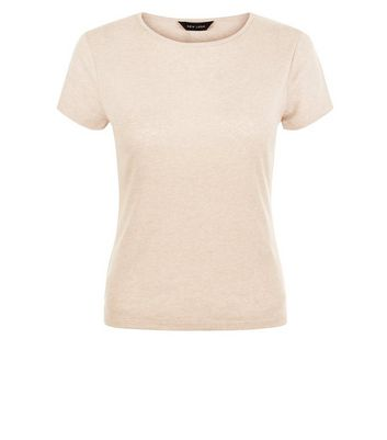 Light Brown Fitted T-Shirt New Look