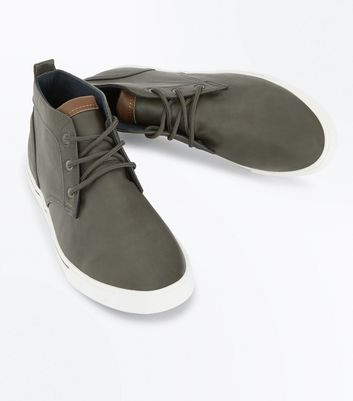 Grey Hi Top Trainers New Look