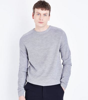 Silver Textured Knit Jumper