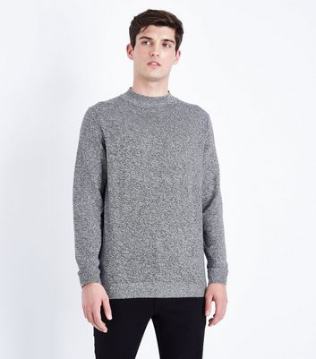 Grey Turtle Neck Jumper New Look