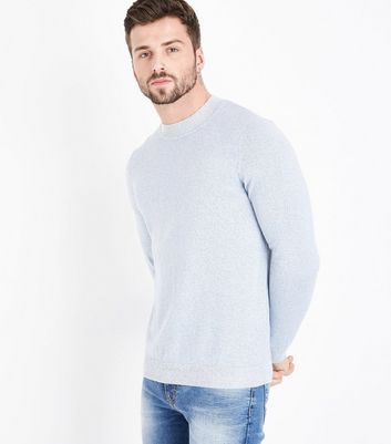 Pale Blue Turtle Neck Jumper New Look