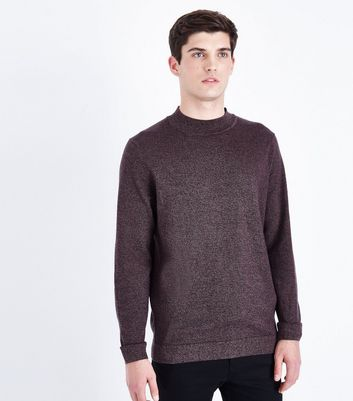 Burgundy Turtle Neck Jumper New Look