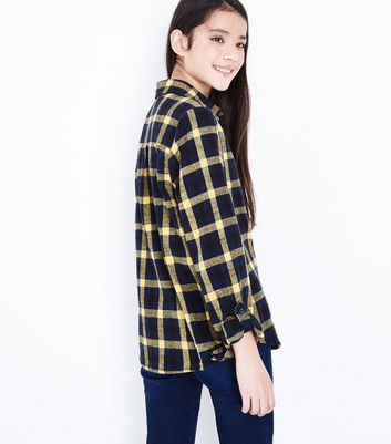 Teens Blue Check Pattern Shirt New Look