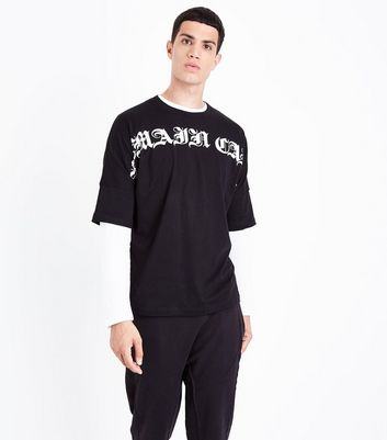 Black Remain Calm T-Shirt New Look