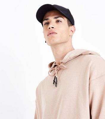 Pink Dropped Shoulder Split Hem Hoodie New Look