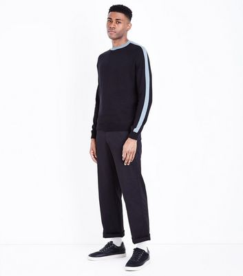 Black Contrast Panel Side Top New Look