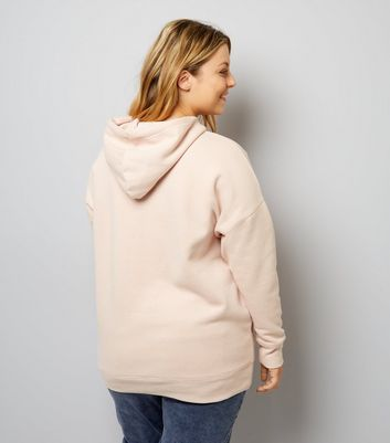 Curves Pink Oversized Hoodie New Look