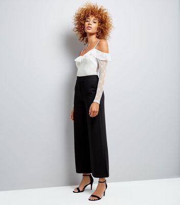 Cream Lace Cold Shoulder Bodysuit New Look