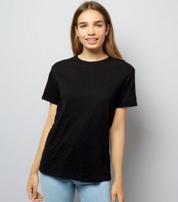 Black Organic Cotton Short Sleeve T-Shirt New Look