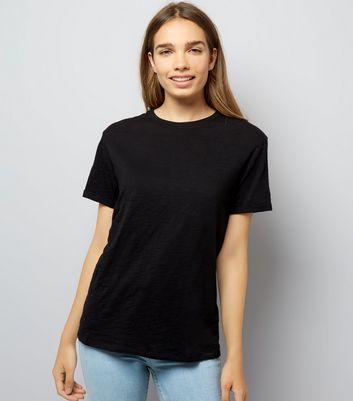 Black Organic Cotton Short Sleeve T-Shirt New Look