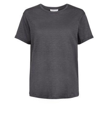 Dark Grey Organic Cotton Short Sleeve T-Shirt New Look