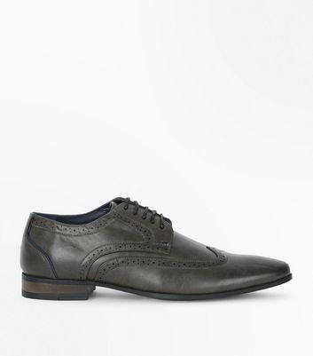 GreyFormal Brogues New Look
