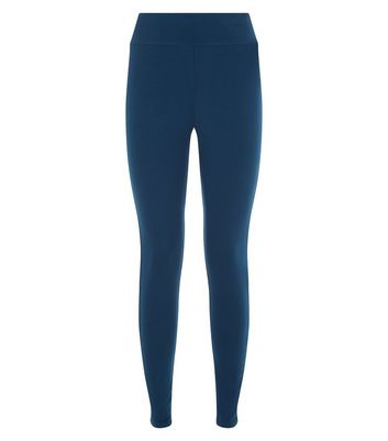 Blue High Waisted Leggings New Look