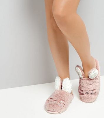 Pink Bunny Mule Slippers New Look