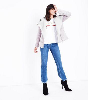 Mink Faux Shearling Aviator Jacket New Look