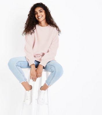 Mink Slouchy Split Side Sweatshirt New Look