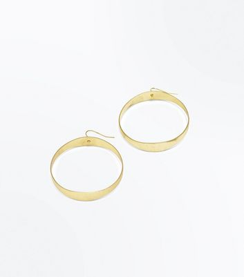 Gold Chunky Hoop Earrings New Look