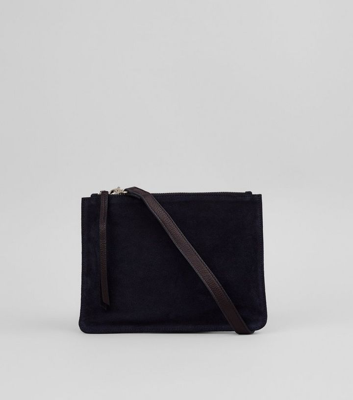 Black Suede Cross Body Bag The Look