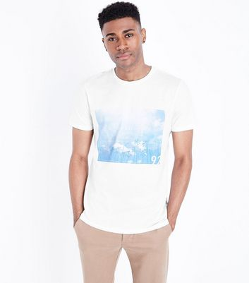 White Los Angeles Print T-Shirt New Look