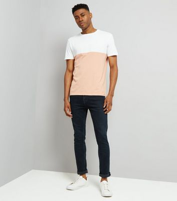 Pink Colour Block T-Shirt New Look