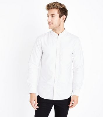White Oxford Long Sleeve Shirt New Look