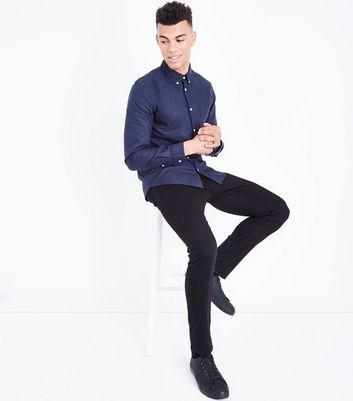 Navy Long Sleeve Oxford Shirt New Look