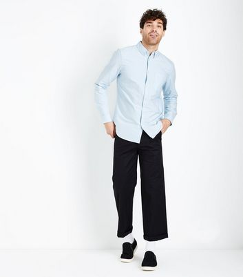 Pale Blue Oxford Long Sleeve Shirt New Look