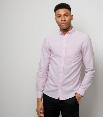 Pale Pink Oxford Long Sleeve Shirt New Look
