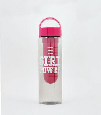 Pink Girl Power Infuser Water Bottle New Look