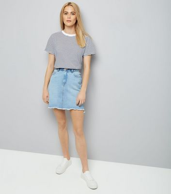 White Stripe T-Shirt New Look