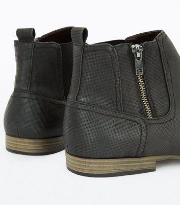 Black Zip Side Chelsea Boots New Look