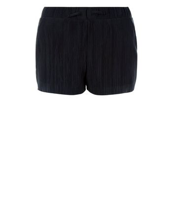 Teens Black Pleated Shorts New Look