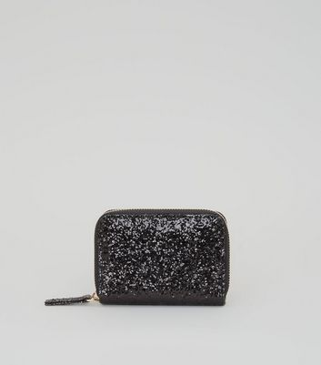 Black Glitter Cardholder New Look