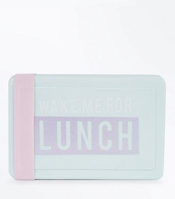 Mint Green Slogan Lunch Box New Look