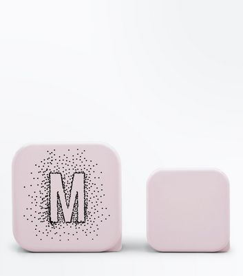 2 Pack Pink Initial M Lunch Box New Look