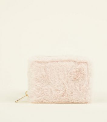 Pink Faux Fur Card Holder