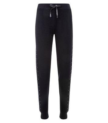 Black In Your Dreams Slogan Pyjama Joggers New Look
