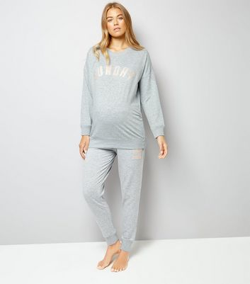 Maternity Grey Sunday Sweater New Look