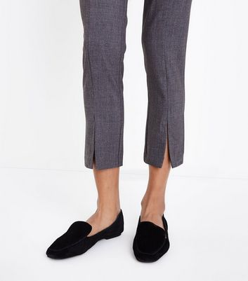 Grey Split Hem Slim Leg Trousers New Look