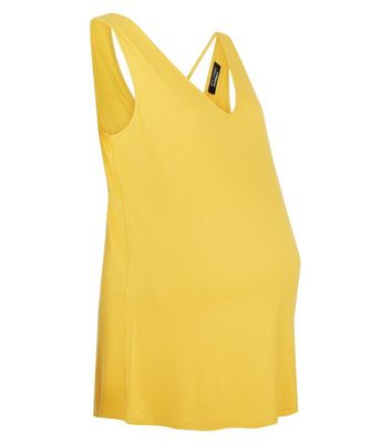Maternity Yellow Harness Back Vest New Look