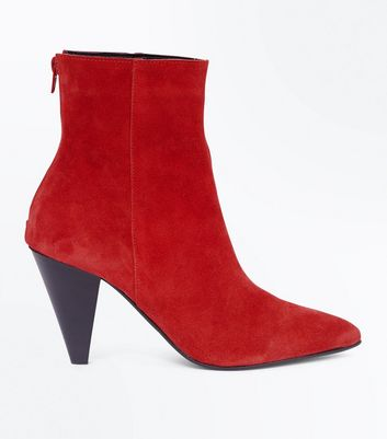 red-leather-cone-heel-pointed-boots