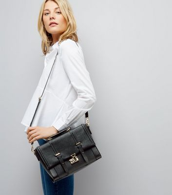 Black Cross Shoulder Satchel New Look